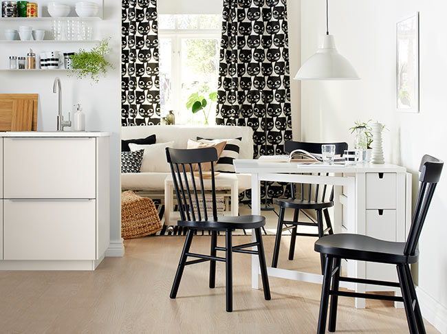 Invest in a foldaway dining table
